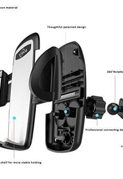 Livres Couvertures de IZUKU Support Telephone Voiture Ventilation [Garantie à Vie] Support Voiture Universel avec Rotation 360° pour iPhone X/8/7/6s/6/SE/5,Samsung Galaxy S8/S7/A5/Note8, Smartphone et GPS Appareils
