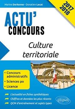 Livres Couvertures de Culture Territoriale Actu'Concours 2017 2018