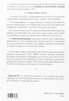 Livres Couvertures de Statistique descriptive : Nouvelle méthode pour bien comprendre et réussir