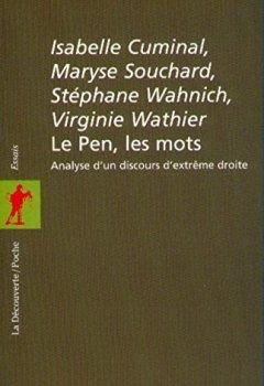 Livres Couvertures de Le Pen, les mots. Analyse d'un discours d'extrême droite