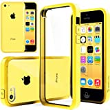 iPhone 5C Case, Caseology [Clearback Bumper] Apple iPhone 5C Case [DIY Customization] [Yellow] Scratch-Resistant Clear Back Cover [Drop Protection] TPU Hybrid Fusion Best Apple iPhone 5C clear case (for Apple iPhone 5C Verizon, AT&T Sprint, T-mobile, Unlocked)