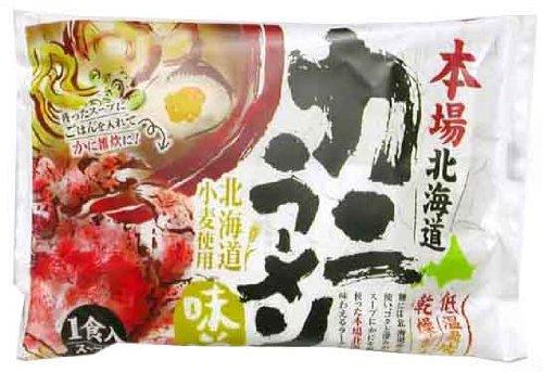 藤原製麺 本場北海道カニラーメン味噌味 111g×10袋
