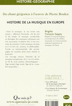 Livres Couvertures de Histoire de la musique en Europe