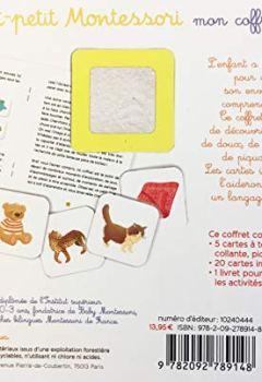 Livres Couvertures de Tout petit Montessori - Mon coffret sensoriel - Dès 15 mois