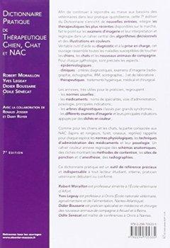 Livres Couvertures de Dictionnaire pratique de thérapeutique - Chien, chat et NAC