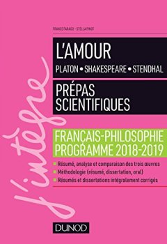 Livres Couvertures de L'amour - Epreuve de français-philosophie Prépas scientifiques 2018-2019