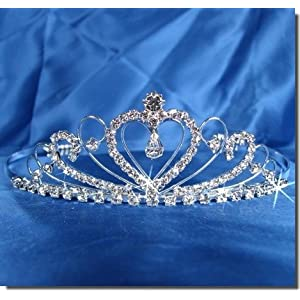 Photo of Bridal Wedding Tiara Crown With Crystal Heart 42206