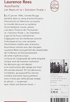 Livres Couvertures de Auschwitz : Les nazis et la Solution finale