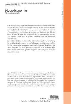 Livres Couvertures de Macroéconomie : 90 exercices corrigés