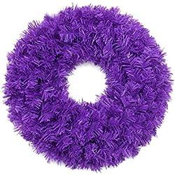 Christmas Wreath 18 Inch Artificial Wedding Garland Great Decoration Wreath Dark Purple