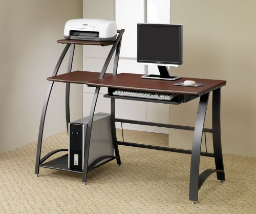 Picture of Comfortable Ultra Modern Computer Desk in Gunmetal Finish by Coaster Furniture (B0040UAJA2) (Computer Desks)