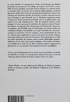 Livres Couvertures de Le Courage de la vérité . Le gouvernement de soi et des autres. 1984