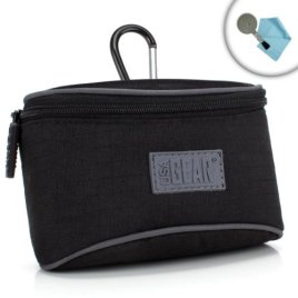 Compact-Digital-Camera-Pouch-Case-with-Padded-Interior-Protective-Nylon-Belt-Loop-by-USA-GEAR-Works-With-Canon-PowerShot-G7-X-Mark-II-SX720-HS-ELPH-360-HS-More