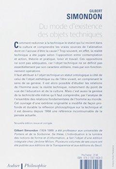 Livres Couvertures de Du mode d'existence des objets techniques
