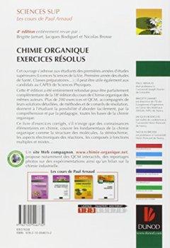 Livres Couvertures de Exercices résolus de Chimie organique - Les cours de Paul Arnaud