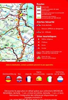 Livres Couvertures de Carte Italie Michelin 2018