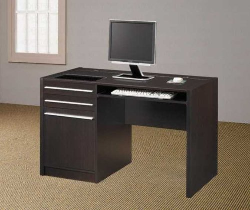 Picture of Comfortable Cappuccino Computer Desk - Coaster Furniture (B003MBJRGM) (Computer Desks)