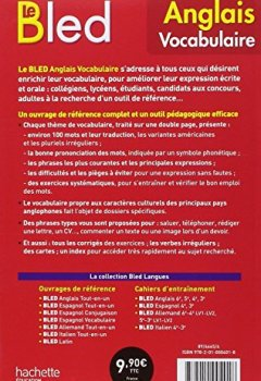 Livres Couvertures de Bled Vocabulaire Anglais