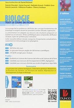 Livres Couvertures de Biologie -Tout le cours en fiches - 3e édition: 300 fiches de cours, 270 QCM et bonus web