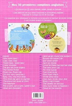 Livres Couvertures de Mes 30 premières comptines anglaises (30 nursery rhymes and fingerplays) + 1 CD audio