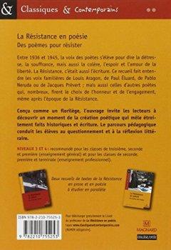 Livres Couvertures de La Résistance en poésie : des poèmes pour résister