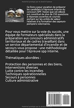 Livres Couvertures de Concours Interne sapeur-pompier professionnel 2018: 250 QROC, 150 pages, 2 concours blanc