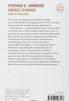 Livres Couvertures de Frères d'armes : Compagnie E, 506e régiment d'infanterie parachutiste, 101e division aéroportée; du débarquement en Normandie au nid d'aigle de Hitler