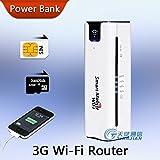 ARBUYSHOP Nuovo Mobile Pocket portatile multifunzionale Slot Mini Wireless Power Bank SIM 3G WiFi Router con caricabatteria