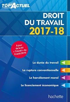 Livres Couvertures de Top'Actuel Droit Du Travail 2017-2018