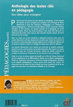 Livres Couvertures de Anthologie des textes clés en pédagogie : Des idées pour enseigner