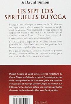 Livres Couvertures de Les sept lois spirituelles du yoga - Un guide pratique de santé et de bien-être