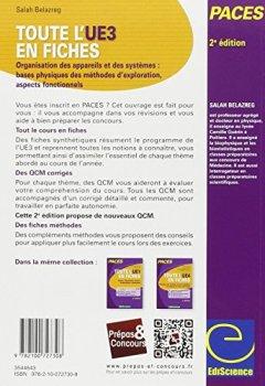 Livres Couvertures de Toute l'UE3 en fiches PACES - 2e éd. - Physique, Biophysique