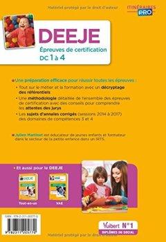 Livres Couvertures de DEEJE, diplôme d'Etat d'éducateur de jeunes enfants, DC 1 à 4 : Annales corrigées