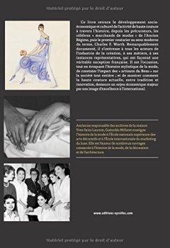 Livres Couvertures de Haute couture : Histoire de l'industrie de la création française - Des précurseurs à nos jours