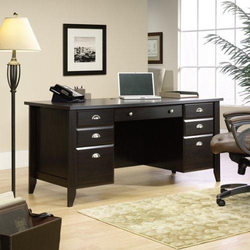 Picture of Comfortable Jamocha Espresso Executive Computer Desk (B003TLK3RW) (Computer Desks)