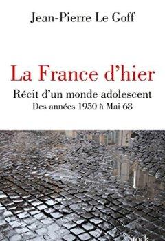 Livres Couvertures de La France d'hier