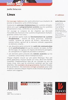 Livres Couvertures de Linux - 4e éd - Programmation système et réseau - Cours et exercices corrigés