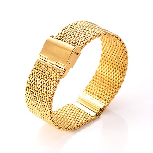 DHMXDC-22mm-Silver-Mesh-Specially-Designed-Stainless-Steel-Strap-Watchband-for-Motorola-Moto-360-Smartwatch-and-Lg-G-Watch-W100-W110-Urbane-W150-MESH-Gold