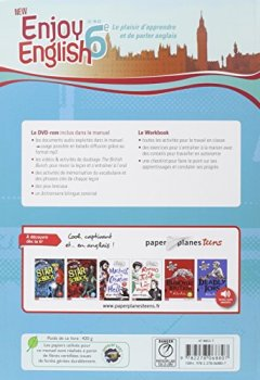 Livres Couvertures de New Enjoy English 6e - Manuel + DVD-rom