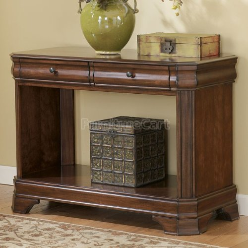 Image of Traditional Medium Brown Sofa Console Table (T677-4)
