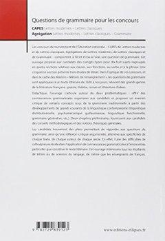 Livres Couvertures de Question de grammaire pour les concours CAPES Lettres modernes Lettres classiques / Agrégation Lettres modernes Lettres classiques Grammaire
