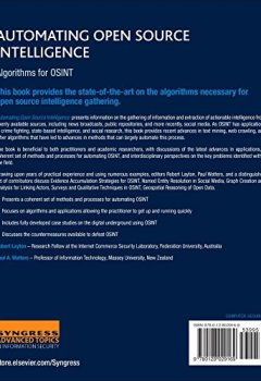 Livres Couvertures de Automating Open Source Intelligence: Algorithms for OSINT