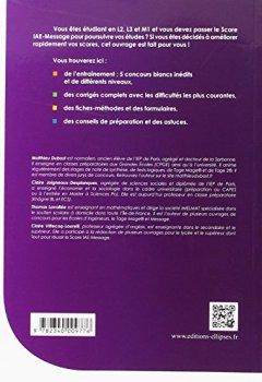Livres Couvertures de Tout le Score IAE-Message 5 Concours Blancs Inédits Méthodes Formulaires et Astuces + de 800 QCM