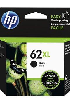 Livres Couvertures de HP 62XL-rendement élevé-original-noir-cartouche d'encre pour blister envy, 5640, 5644 5646, 5660, 7640, officejet 5740 et 5742 80 (contenu = 1)