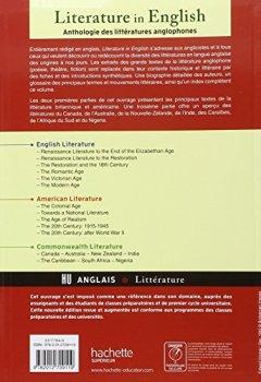 Livres Couvertures de Anthologie de la Littérature Anglophone