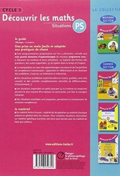 Livres Couvertures de Découvrir les mathématiques Petite Section éd. 2015 - Guide de l'enseignant