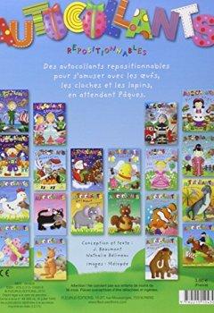 Livres Couvertures de Autocollants Pâques : J'apprends, je m'amuse, je colle
