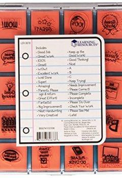 Livres Couvertures de Learning Resources - Tampons de professeur - Langue : anglais