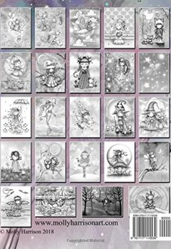 Livres Couvertures de Whimsical Wonders - A Grayscale Coloring Book for Adults and All Ages!: Featuring sweet fairies, mermaids, Halloween Witches, Owls, and More!