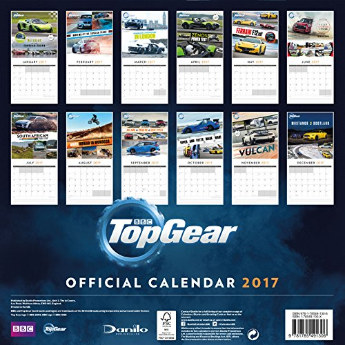 Top Gear Official 2017 Square Calendar